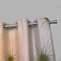 eyelet curtain on rod