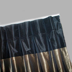 invert pleat curtain