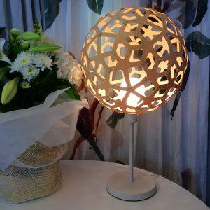 David Trubridge Table Lamp - White