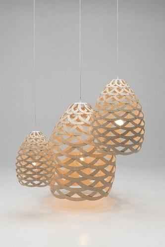 three sizes of hanging bamboo light shade