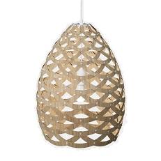 A bamboo hanging light